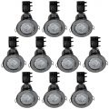 10 Pack of IP20 Fire Rated Recessed Downlighters with LED Bulbs – Black Chrome