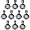 10 Pack of IP20 Fire Rated Recessed Downlighters with HAL Bulbs – Black Chrome