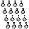 20 Pack of IP20 Fire Rated Recessed Downlighters with LED Bulbs – Black Chrome