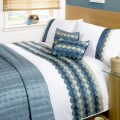 Waves Single Duvet Cover Set C/Teal