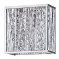 Visconte Oblast Frame Wall Light with Crystal Droplets – Chrome